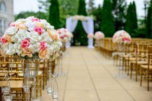 פרחים בגן אירועים